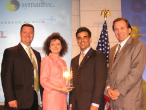 "The Boneal team accepts the Small Business Administration's ""Prime Contractor of the Year"" Award"